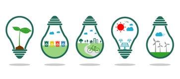 Save energy symbol green ,Eco green energy, Save the World, bulb light icon,Vector Illustration. Save energy symbol green ,Eco green energy, Save the World stock illustration