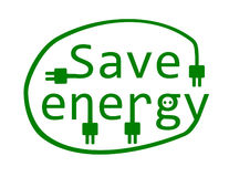 Save energy. stock illustration