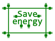 Save energy. Stock Photos