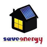 Save energy vector illustration royalty free illustration