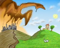 Save environment. Concept illustration about ecology problems stock illustration