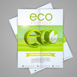 Save environment flyer or template. Stock Images