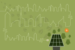 Save environment and green power concept. Stock Images