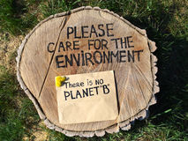 Save environment rescue the forests. Stop deforestation Stock Images