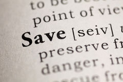 Save Royalty Free Stock Image