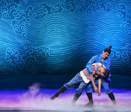 """Save father-Dance drama """"The Dream of Maritime Silk Road"""". Dance drama """"The Dream of Maritime Silk Road"""" centers on the plot of two generations stock photography"""