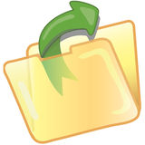 Save file icon. Stylized save file icon or symbol Stock Photography