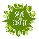 Save The Forest Concept Stock Photos