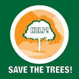Save the forest / trees print or logo Stock Photo