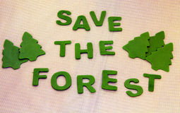 Save the forests Stock Image