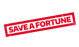 Save A Fortune rubber stamp Stock Photos