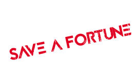 Save A Fortune rubber stamp Royalty Free Stock Photography