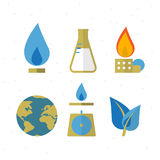 Save Gas for the earth icon -  Stock Photography