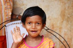 Save a girl child.Let them live healthily Stock Images