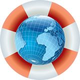SAVE Globe Africa Stock Image