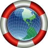 SAVE Globe America Royalty Free Stock Photography