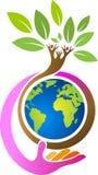 save globe family tree Stock Photography