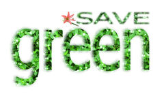 Save green for life Stock Image