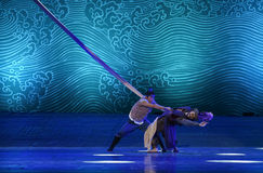 """Save Hamadi-Dance drama """"The Dream of Maritime Silk Road"""". Dance drama """"The Dream of Maritime Silk Road"""" centers on the plot of two generations royalty free stock photo"""
