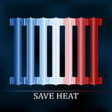 Save heat colored radiator illustration Stock Images