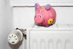 Save on heating costs Stock Image