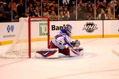 Save Henrik Lundqvist New York Rangers. New York Rangers goalie Henrik Lundqvist makes a save royalty free stock photos