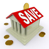 Save On House Means Saving For Deposit Or Home Stock Photography
