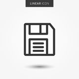 Save icon vector illustration. Isolated floppy disk symbol. Record line concept. Save diskette graphic design. Save data outline symbol for app. Floppy disc Stock Image