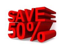 Save 50% royalty free illustration