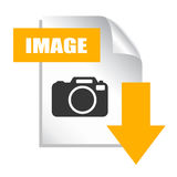 Save image icon Stock Photography