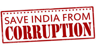 Save India from corruption Stock Images