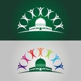 Save Palestine illustration with human logo stock photography