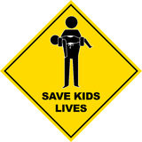 Save Kids Lives Sign - Vector Illustration Royalty Free Stock Image