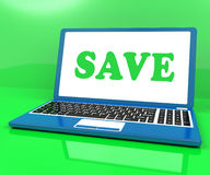 Save Laptop Shows Promotion Sales Discounts Or Clearance Royalty Free Stock Photography