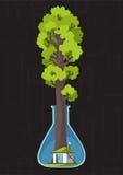 Save las i planetuje Rodzina dom Obraz Royalty Free