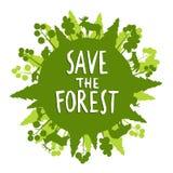 Save Lasowego pojęcie Zdjęcia Stock