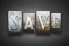 Save Letterpress Stock Photography