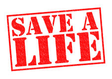 SAVE A LIFE Stock Image