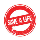 Save A Life rubber stamp. Grunge design with dust scratches. Effects can be easily removed for a clean, crisp look. Color is easily changed Royalty Free Stock Photos