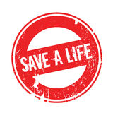 Save A Life rubber stamp Royalty Free Stock Photography