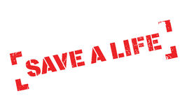 Save A Life rubber stamp Royalty Free Stock Image