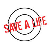Save A Life rubber stamp Stock Image