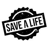 Save A Life rubber stamp Royalty Free Stock Images