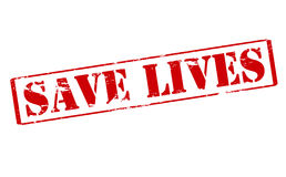 Save lives. Rubber stamp with text save lives inside,  illustration Royalty Free Stock Photography