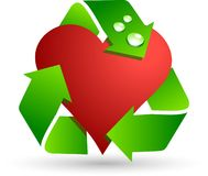 Save love symbol. Royalty Free Stock Images