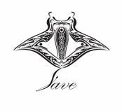 Save manty Ray obrazy royalty free