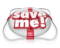 Save Me Life Preserver Words SOS Rescue Help Stock Image