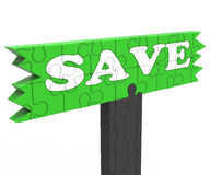 Save Means Discount Reduction Or Promotion Stock Image