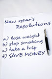Save money. New year resolution with save money Stock Images