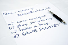 Save money. New year resolution with save money Royalty Free Stock Photo
